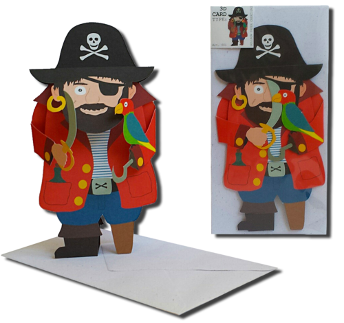 3D Card Type Pirate