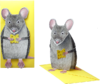 3D Animal Card Mouse with cheese