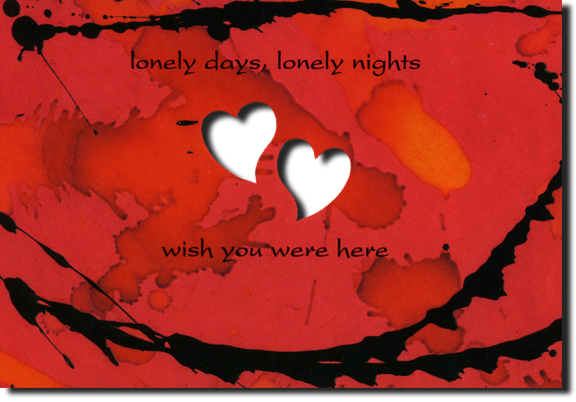 Greeting Card lonely days